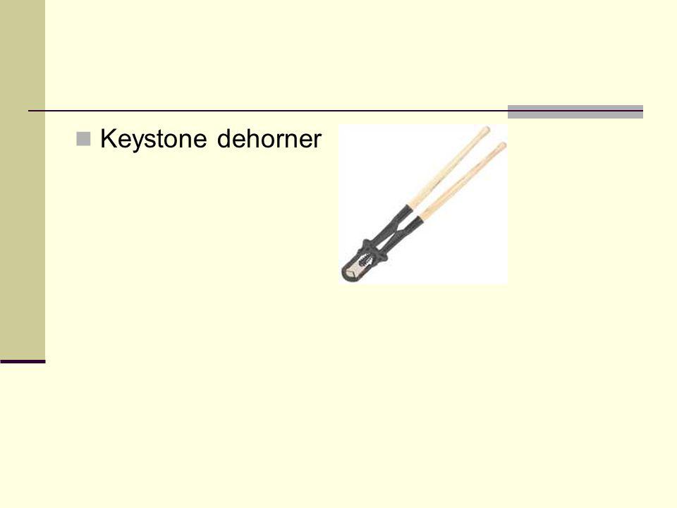 Keystone dehorner