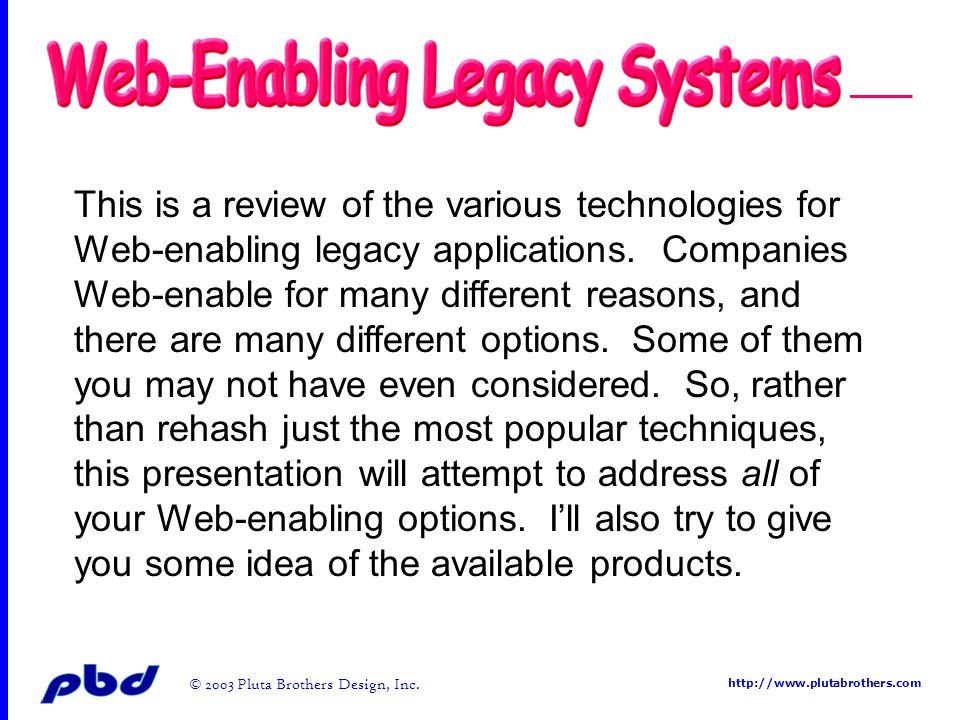 http://www.plutabrothers.com © 2003 Pluta Brothers Design, Inc. Serv e r/Client – Servlet/JSP