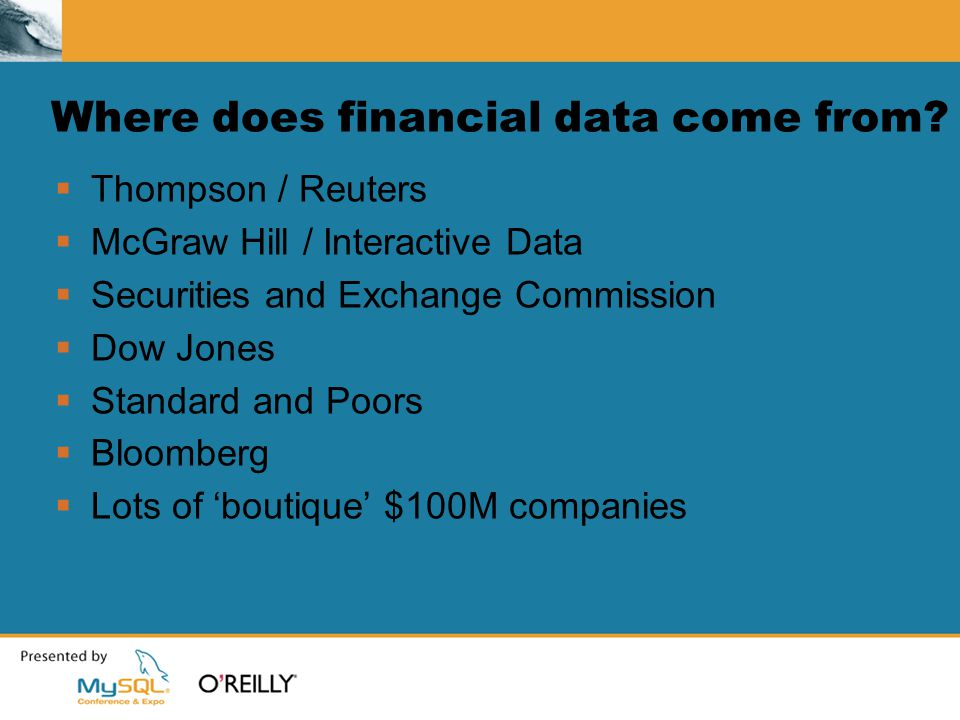 Where does financial data come from.