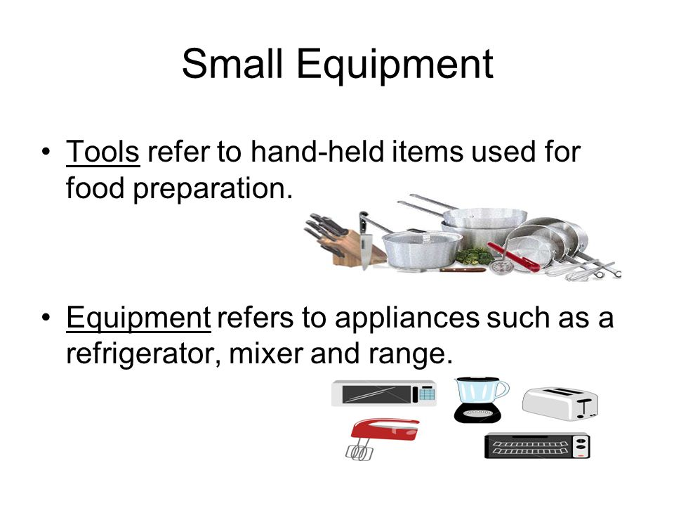 Small Equipment Know these items! Cutting BoardMixing Bowls