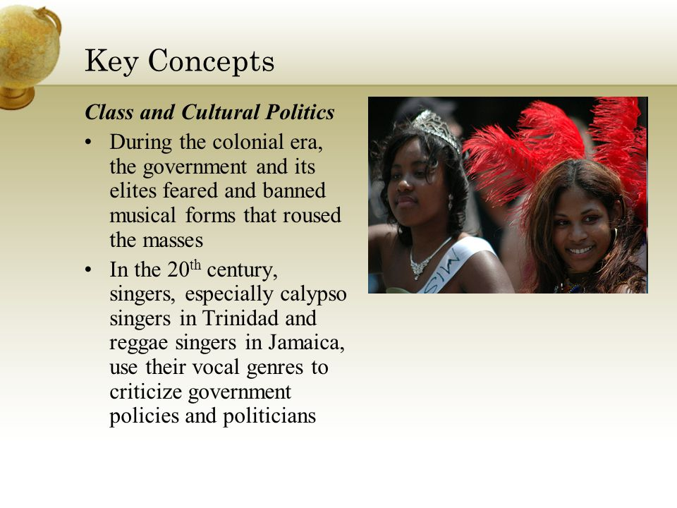 Musical Syncretism, Creole Music Let ' s listen to different examples of Caribbean music Write two lists African instruments and concepts European instruments and concepts