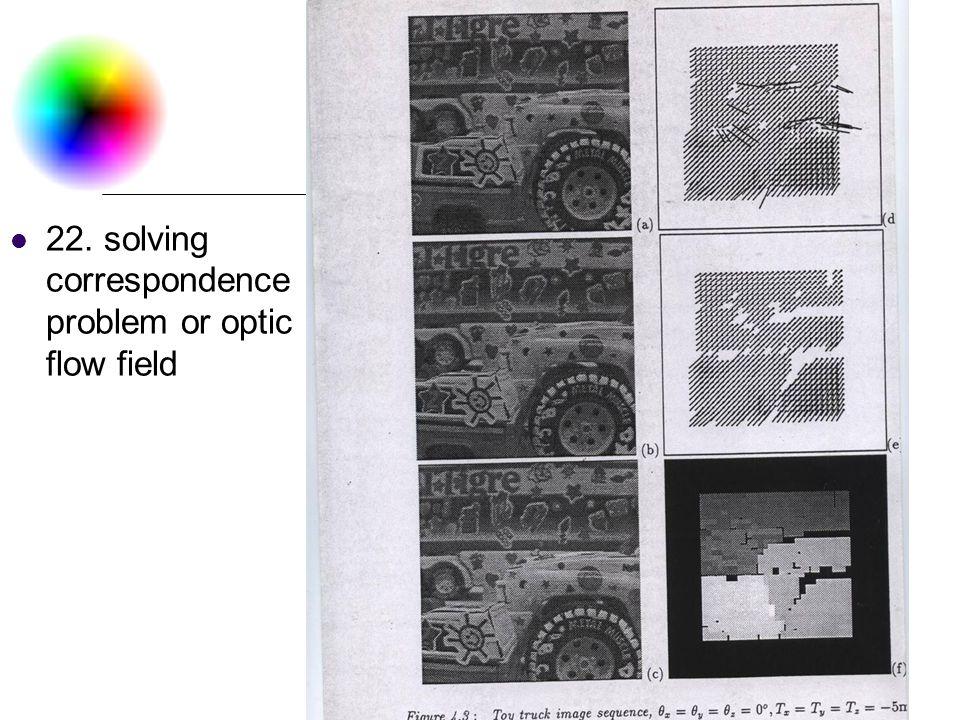 DC & CV Lab. CSIE NTU 22. solving correspondence problem or optic flow field