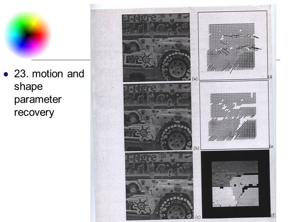 DC & CV Lab. CSIE NTU 23. motion and shape parameter recovery