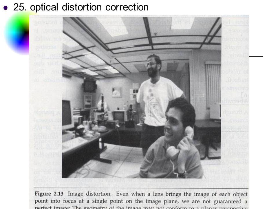 DC & CV Lab. CSIE NTU 25. optical distortion correction