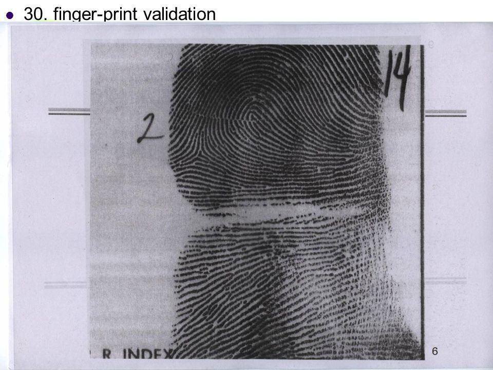 DC & CV Lab. CSIE NTU 30. finger-print validation