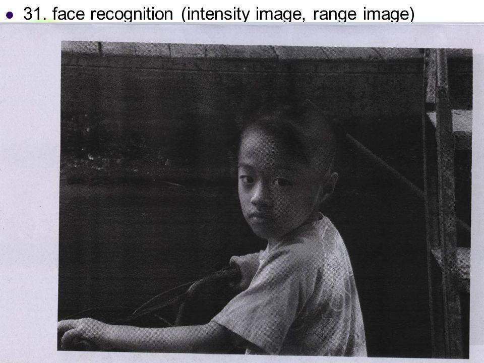 DC & CV Lab. CSIE NTU 31. face recognition (intensity image, range image)