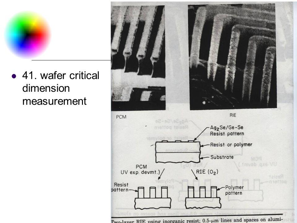 DC & CV Lab. CSIE NTU 41. wafer critical dimension measurement