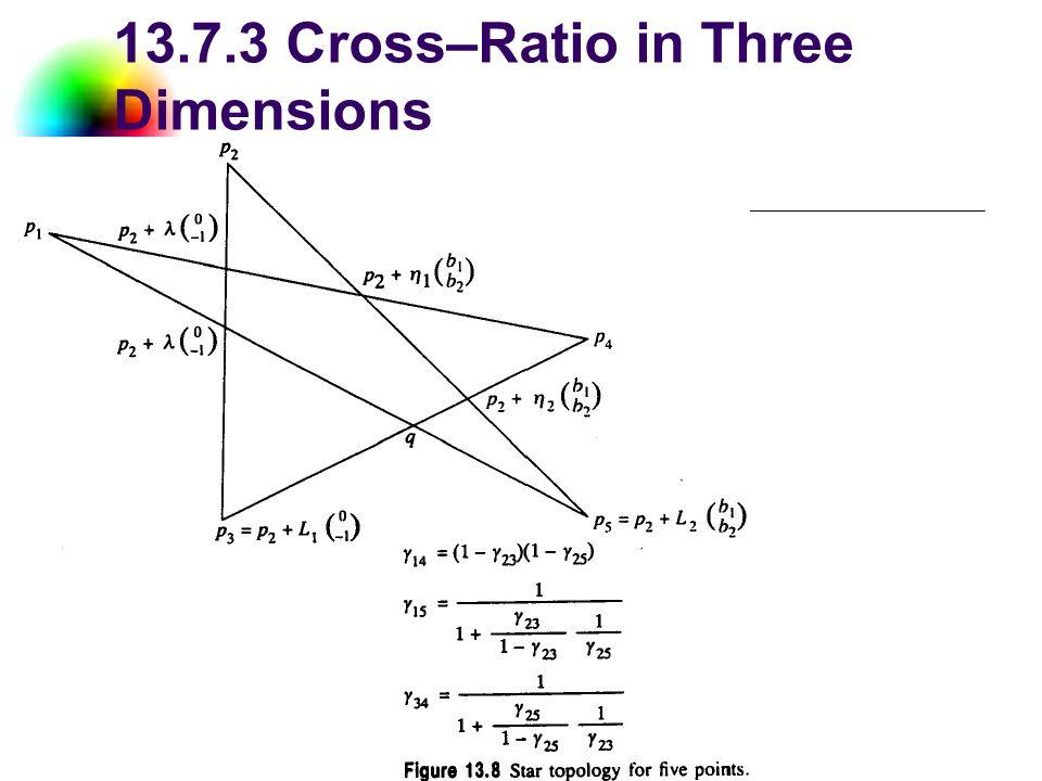 DC & CV Lab. CSIE NTU 13.7.3 Cross–Ratio in Three Dimensions