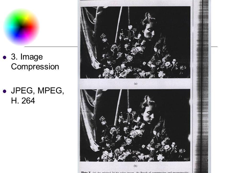 DC & CV Lab. CSIE NTU 3. Image Compression JPEG, MPEG, H. 264