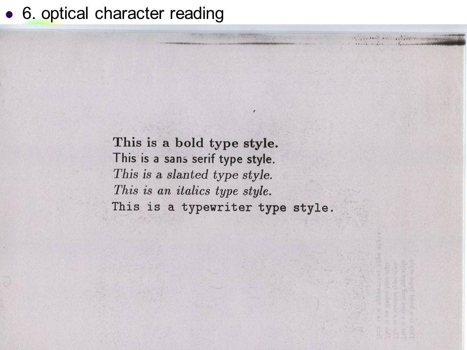 DC & CV Lab. CSIE NTU 6. optical character reading