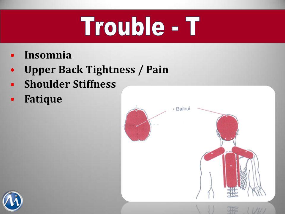 Insomnia Upper Back Tightness / Pain Shoulder Stiffness Fatique