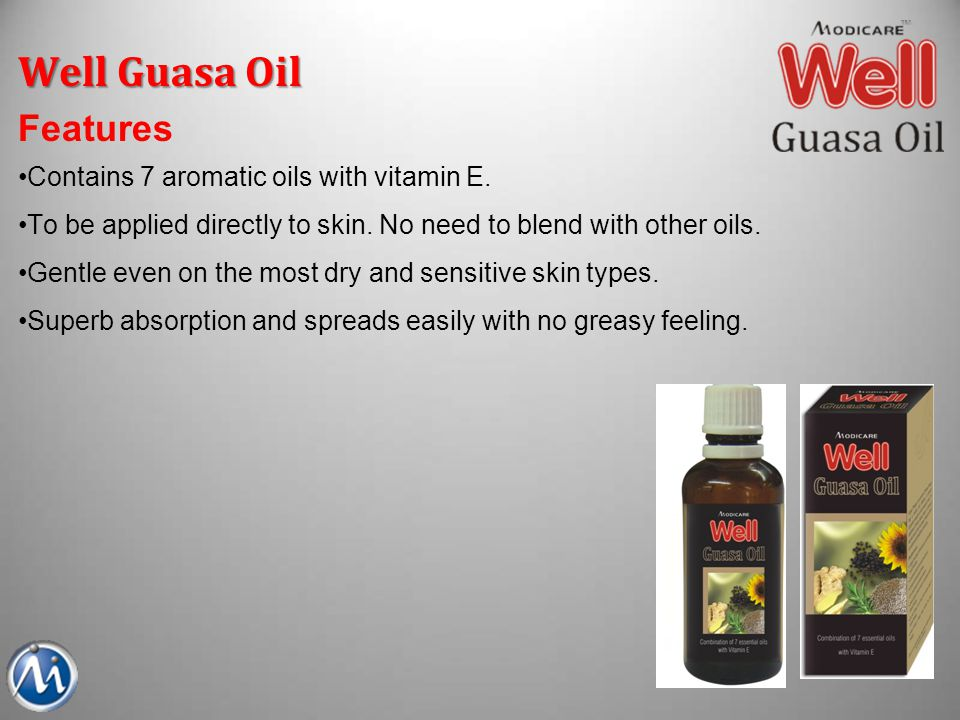Well Guasa Oil Benefits Relax & rejuvenate both body & mind Enhance general well-being Relieve stress and fatigue Improve skin conditions Detoxify Oxygenation Well Guasa Oil is recommended for those who Wants to lead a stress free life.
