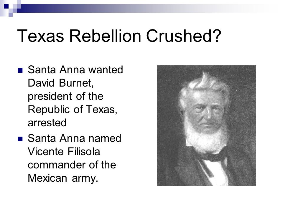 Texas Rebellion Crushed.