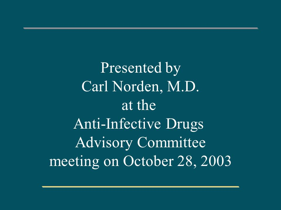 Presented by Carl Norden, M.D.