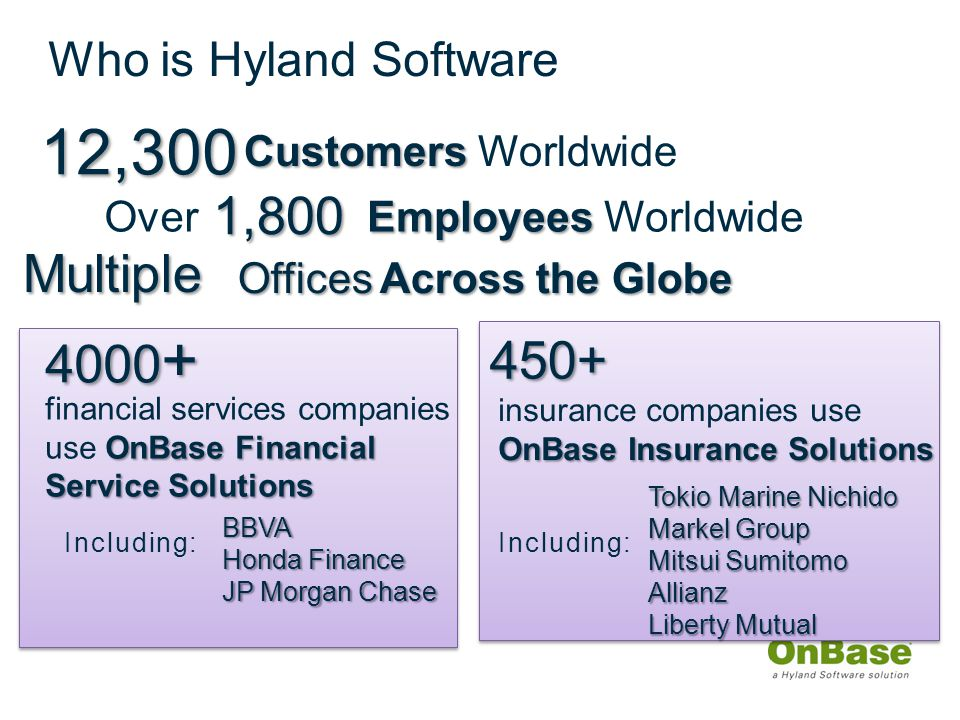 Examples of how customers benefit from Hyland v. IBM