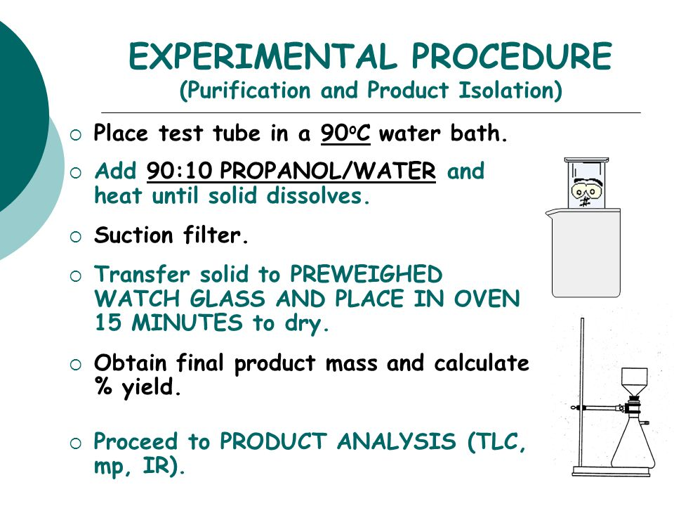 EXPERIMENTAL PROCEDURE (Synthesis)  Place aldehyde and ketone in large test tube.  Crush solids with glass rod until liquefied.  Add NaOH. Mix and