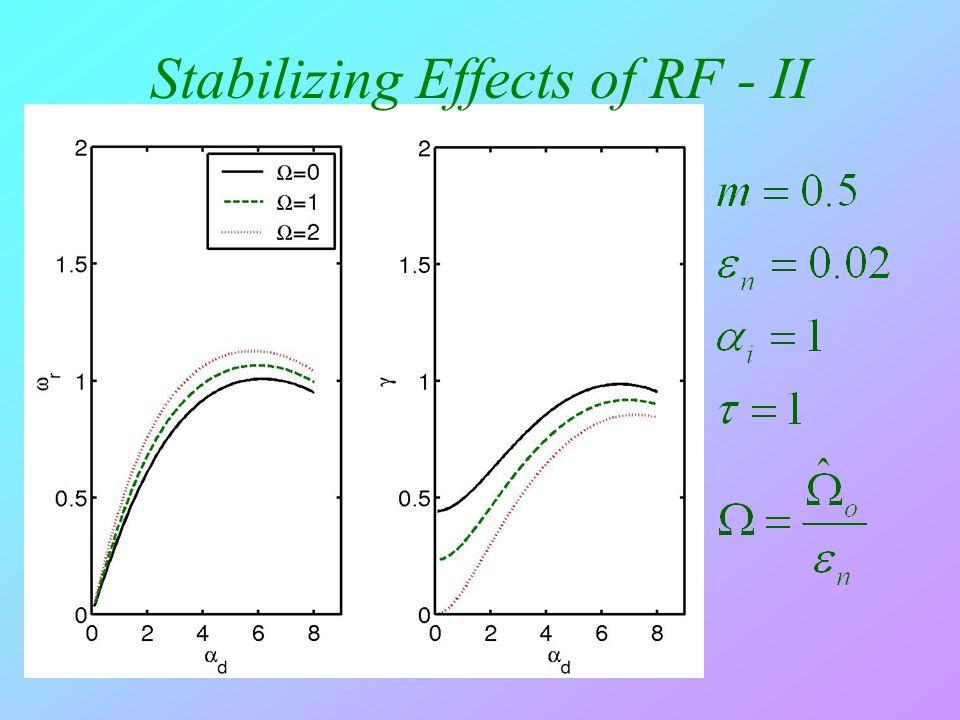 Stabilizing Effects of RF - II