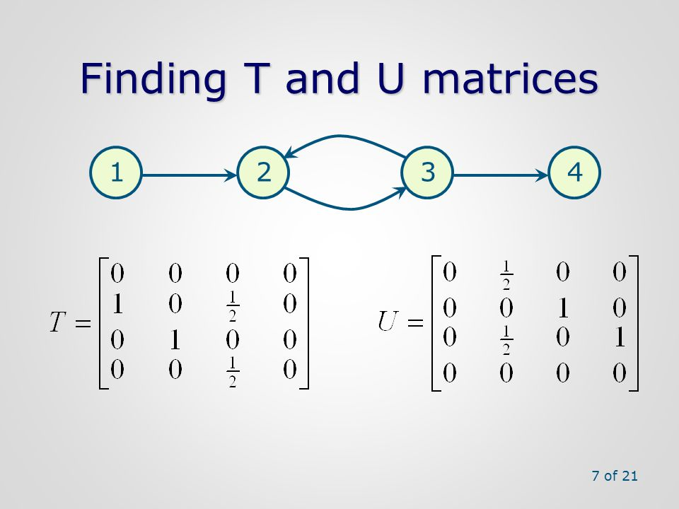 1234 Finding T and U matrices 7 of 21