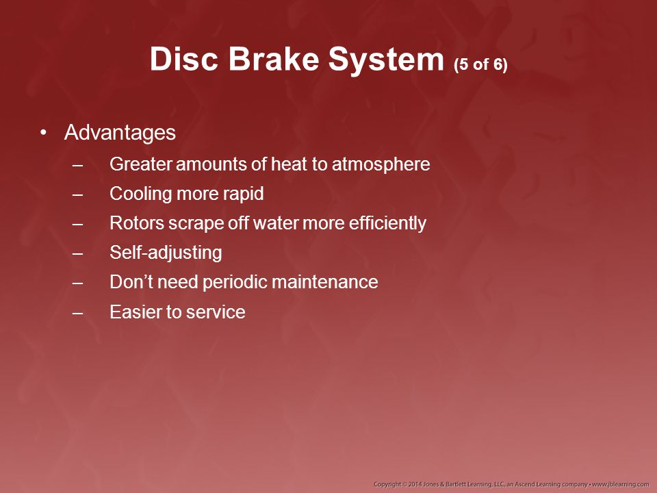 Disc Brake Rotors (7 of 7) Worn rotors cannot absorb as much heat and therefore are subject to brake fade much sooner.