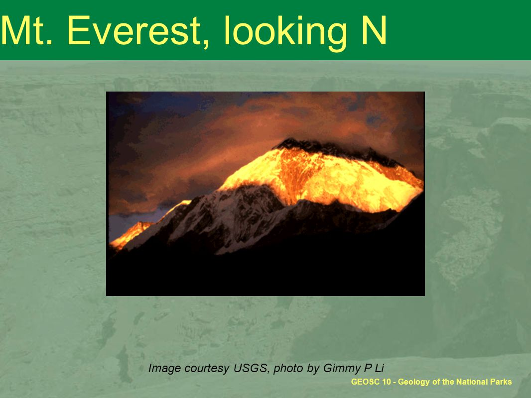 GEOSC 10 - Geology of the National Parks Mt.