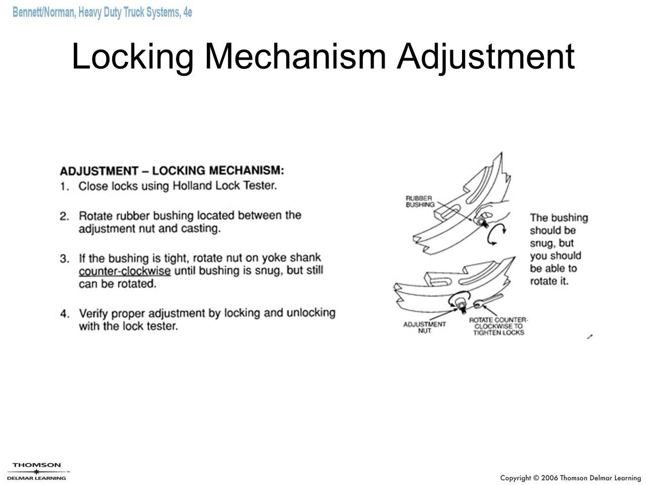 Locking Mechanism Adjustment
