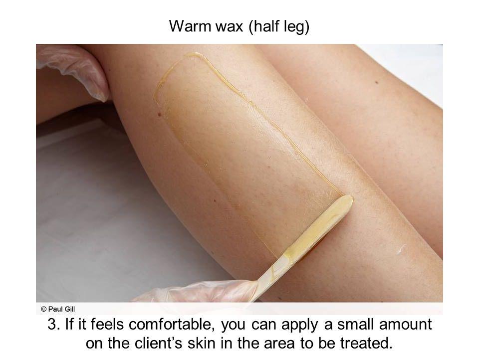 Warm wax (half leg)
