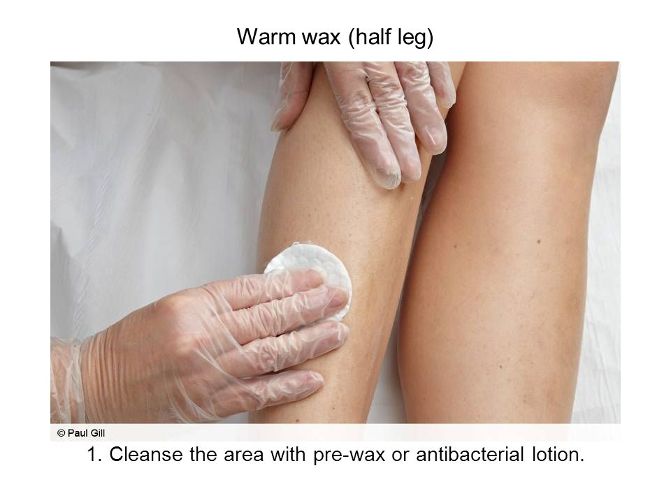 Hot or hard wax (bikini line) 3.