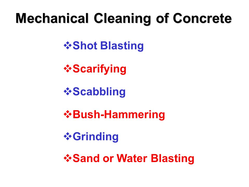 Other Contaminants (cont.)  Flooring Adhesives On a concrete substrate only.