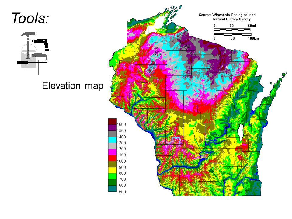 Tools: Elevation map