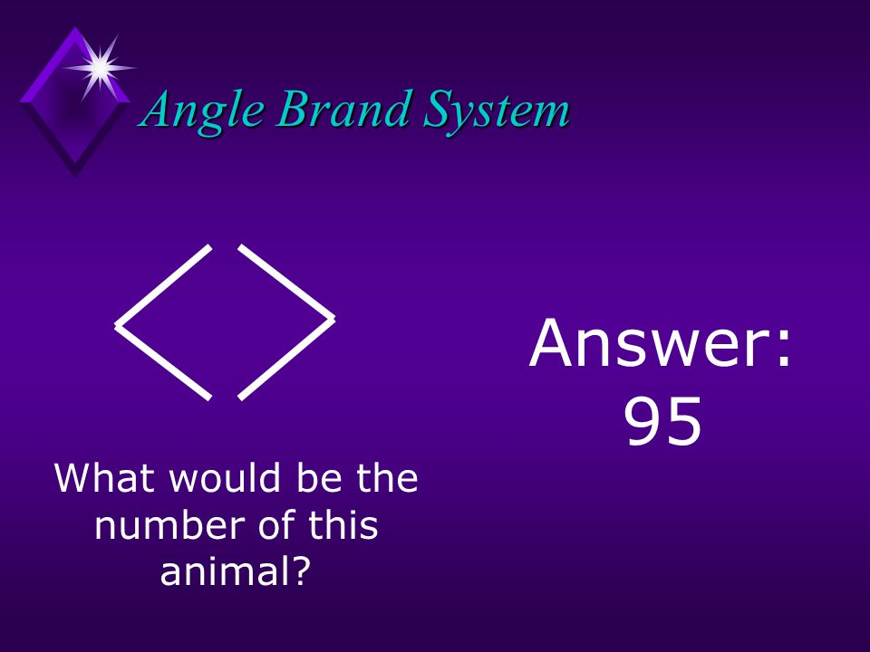What would be the number of this animal Answer: 95