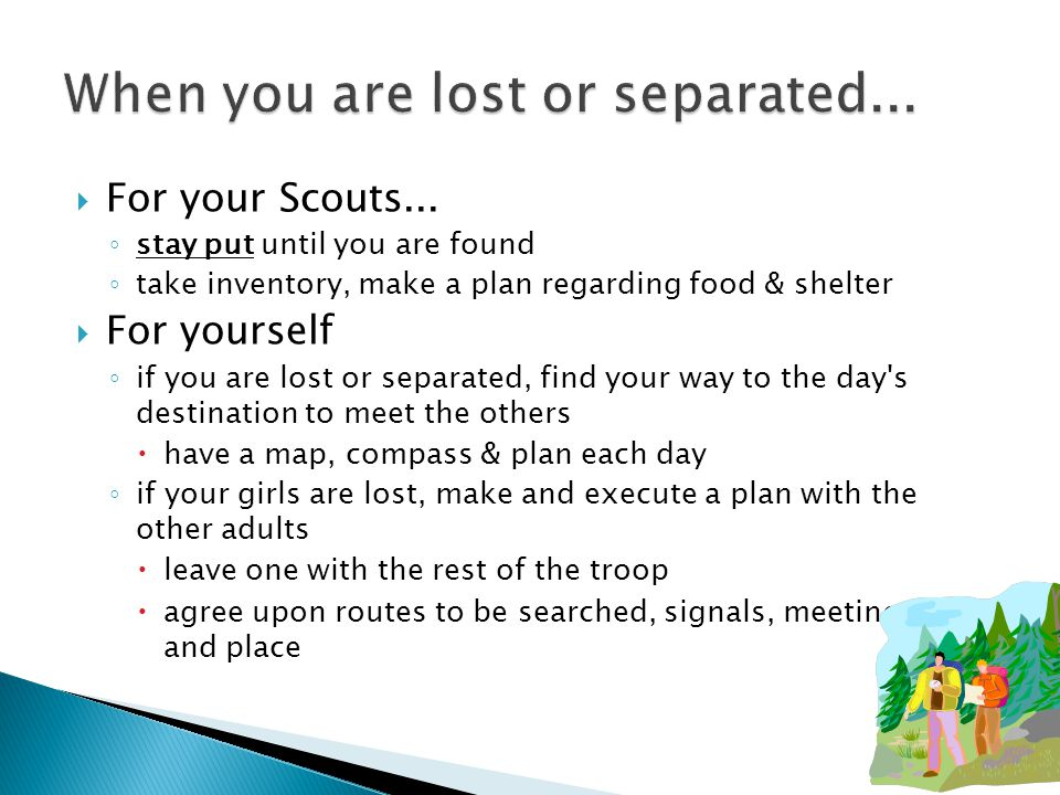  For your Scouts...