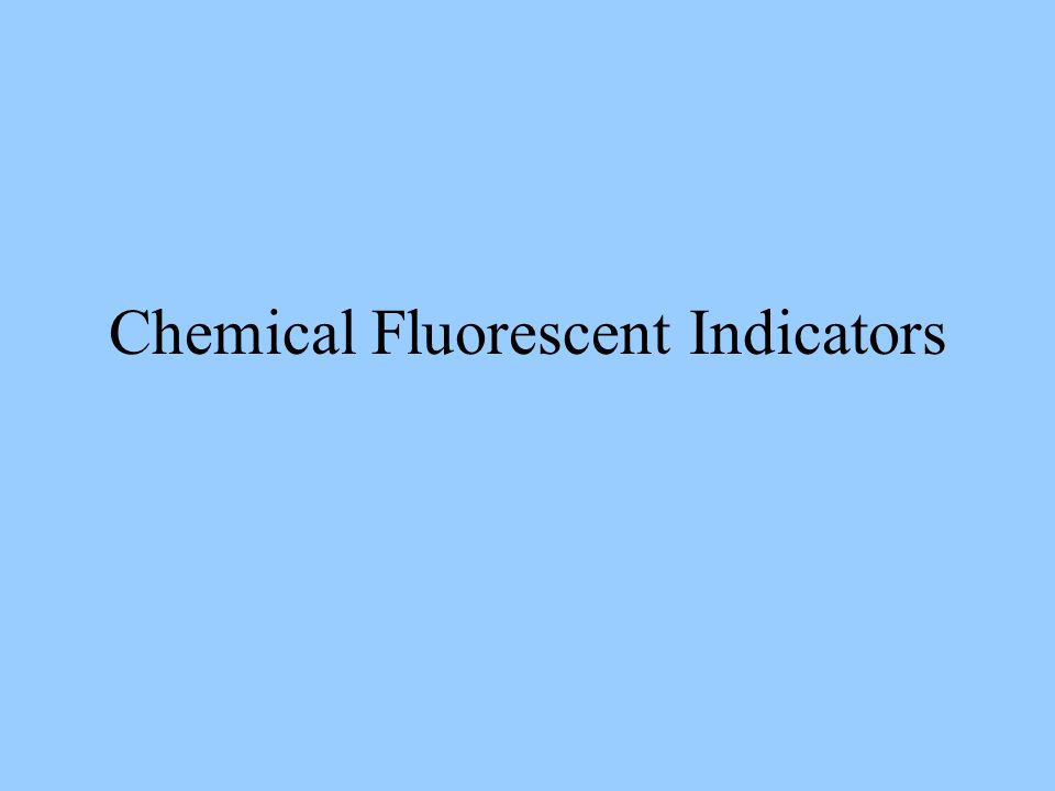 Selection Criteria Calcium Concentration range –Near dissociation constant (K d ) (best) –Detectable at 0.1K d to 10K d Delivery method Measurement –Quantitative or qualitative –Ion concentration –Instruments –Sources of noise Indicator's light intensity Other physiological parameters –Simultaneous patch-clamp