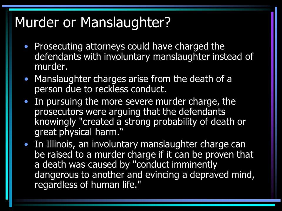 Murder or Manslaughter.