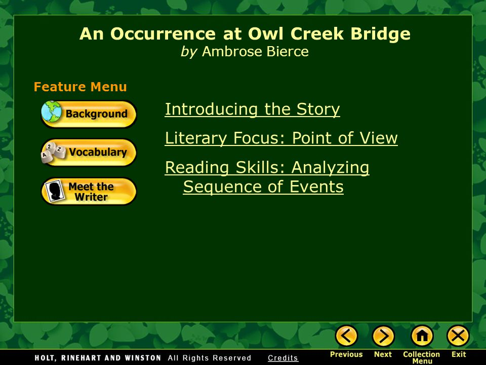 owl creek bridge analysis