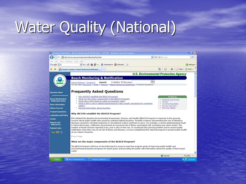 Water Quality (National)