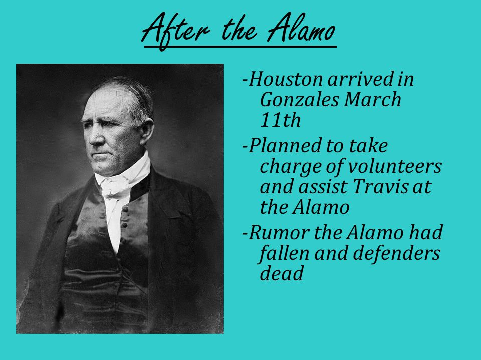 The Runaway Scrape -Alamo's fall frightened Texans -People fled when the Mexican army approached -Fear spread….leaving whole towns empty!.
