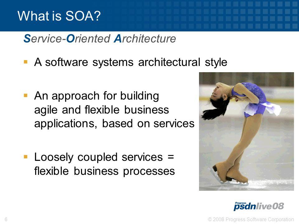 © 2008 Progress Software Corporation6 What is SOA.