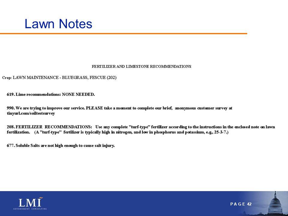 P A G E 42 Lawn Notes