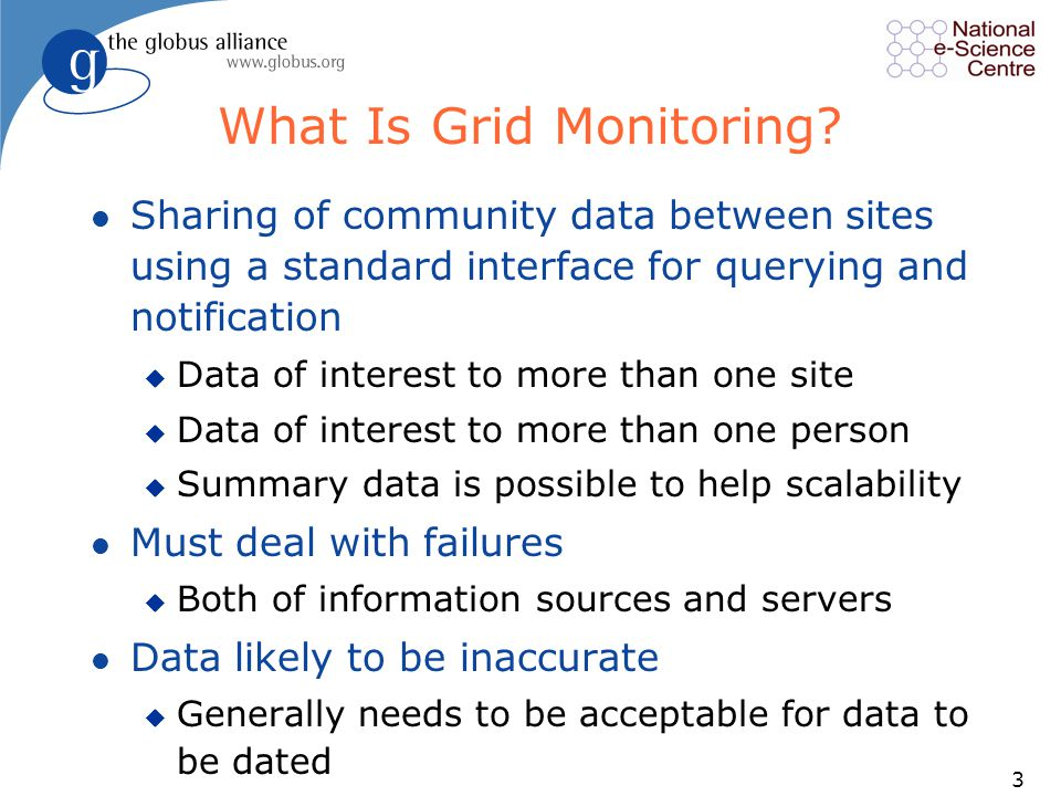 3 What Is Grid Monitoring.