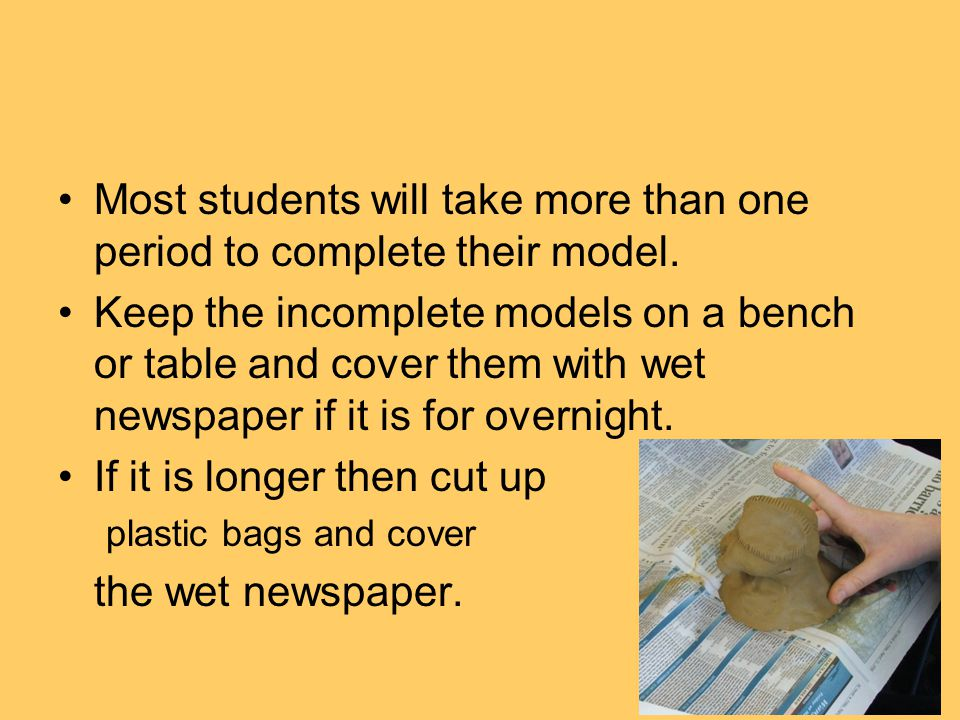 Students can then paint their model. Painting the clay when it is wet is OK.