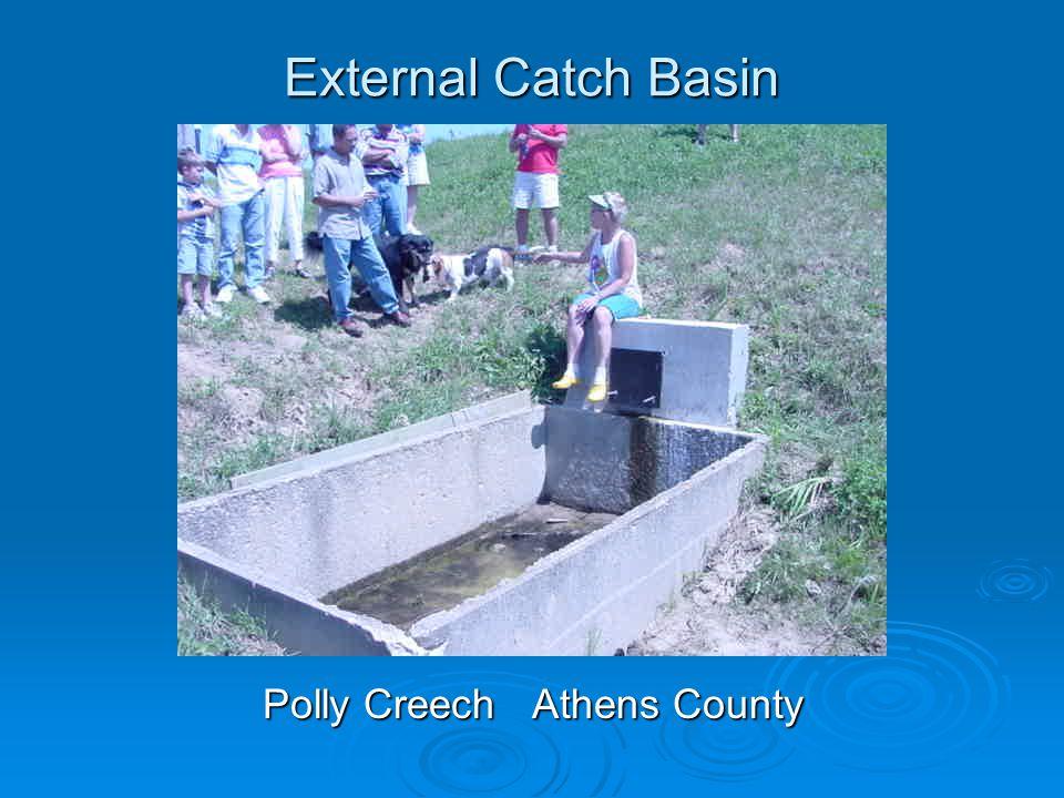 External Catch Basin Polly Creech Athens County