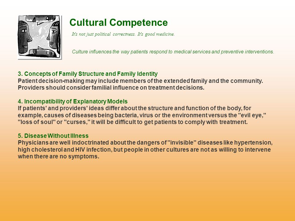 Cultural Competence It s not just political correctness.