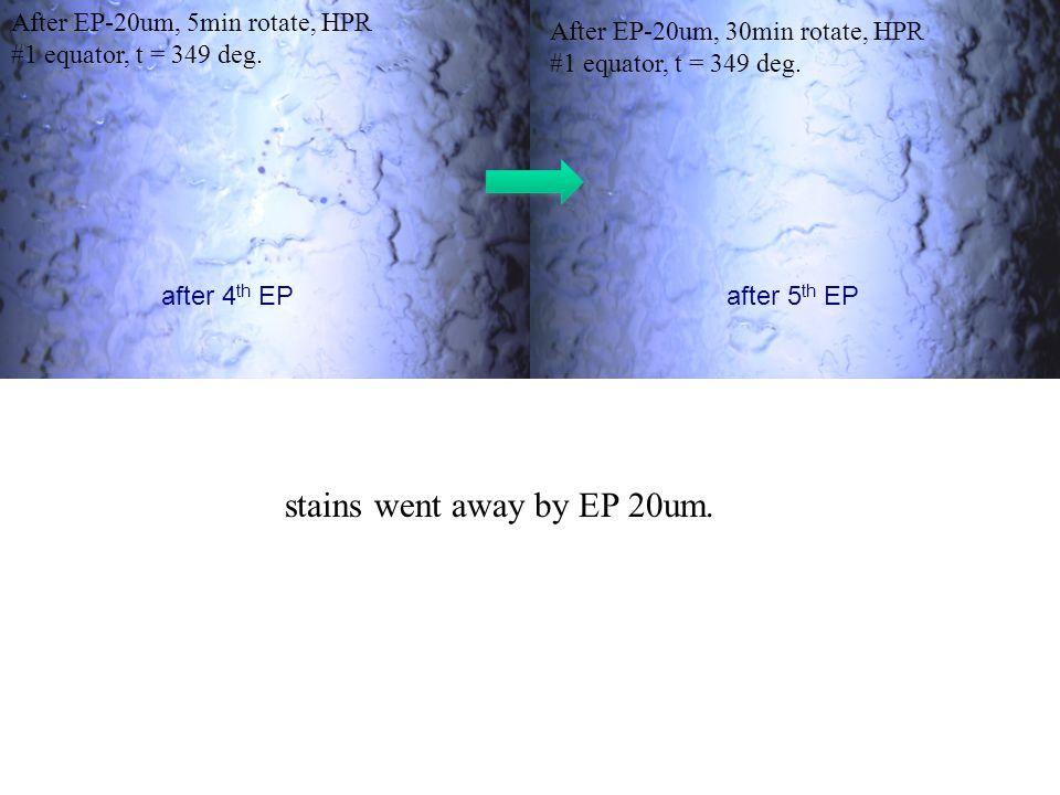 After EP-20um, 5min rotate, HPR #1 equator, t = 349 deg.