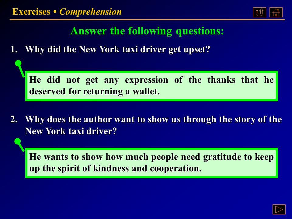 Exercises Comprehension Ex. II, p. 46 《读写教程 IV 》 : Ex. II, p. 46