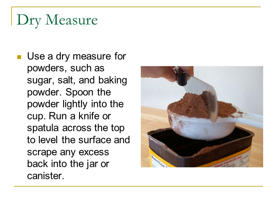 Liquid Spoon Measure a liquid in a measuring spoon by filling it full.
