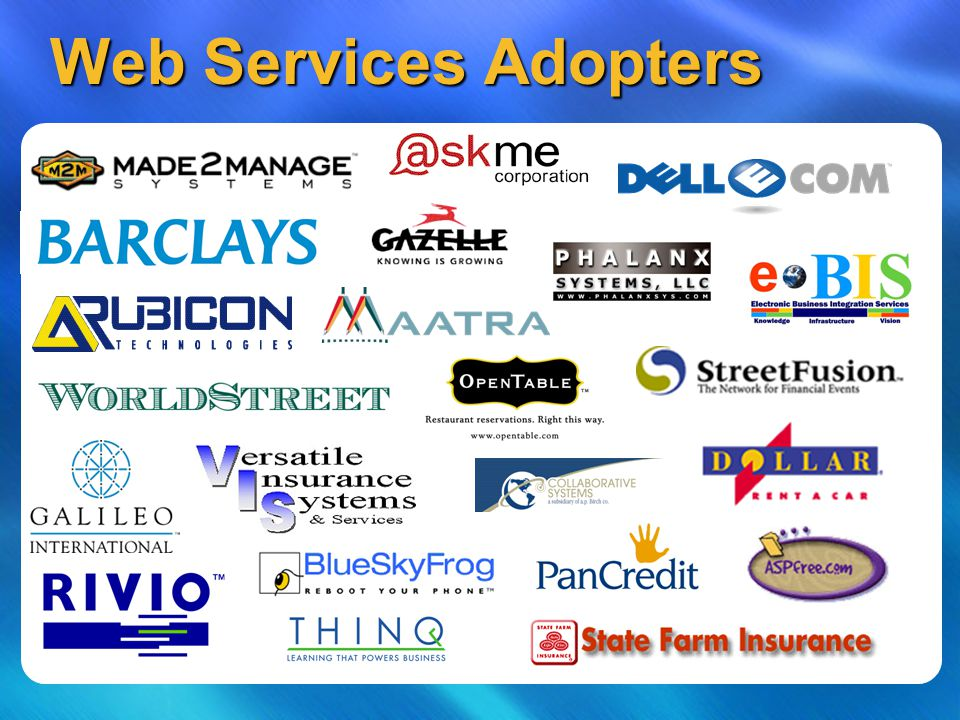 Web Services Adopters