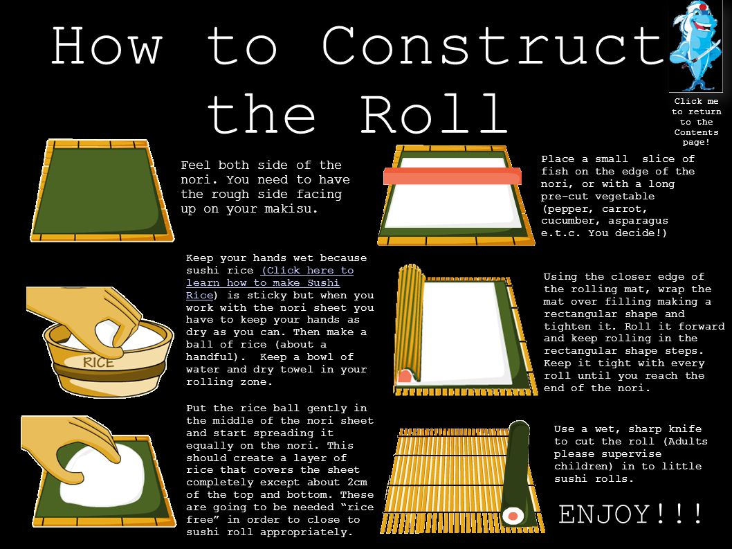 How to Construct the Roll Click me to return to the Contents page.