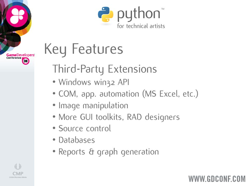 Key Features Third-Party Extensions Windows win32 API COM, app.