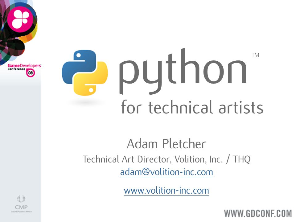 Background Myself Python @ Volition MaxScript Tech Art Council Programming Classes Next-Gen Engine Toolset