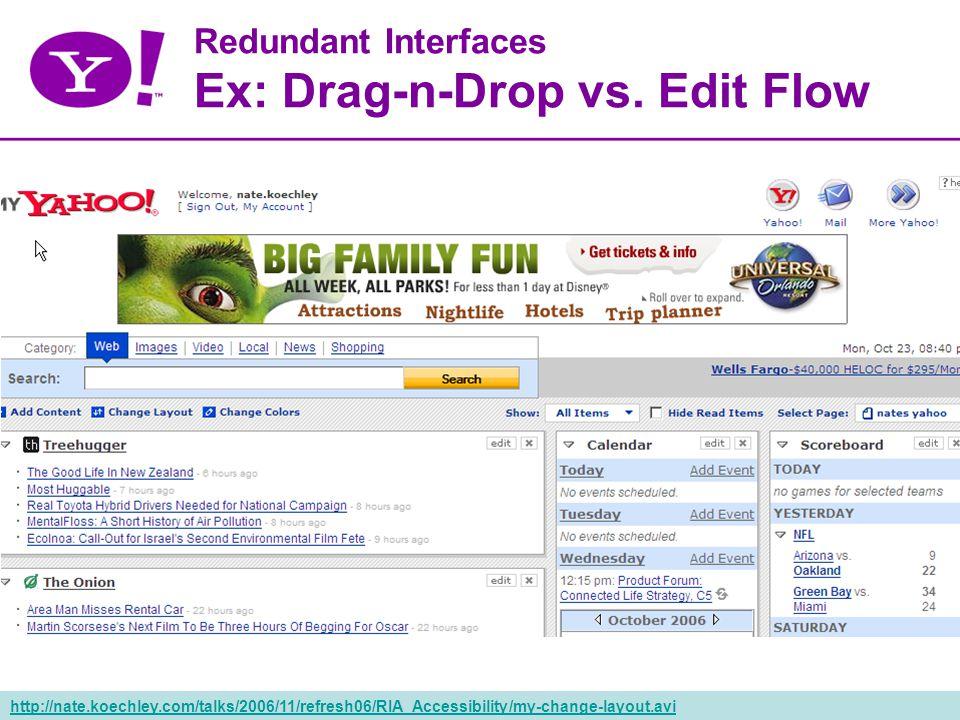 50 Redundant Interfaces Ex: Drag-n-Drop vs.